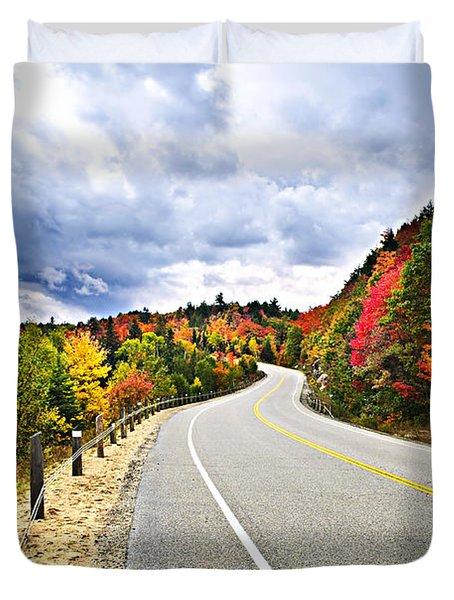 Fall Highway Duvet Cover by Elena Elisseeva
