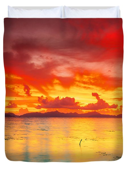 Fantasy Sunset Duvet Cover by MotHaiBaPhoto Prints