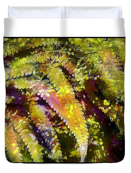 Fern In Dappled Light Duvet Cover by Judi Bagwell