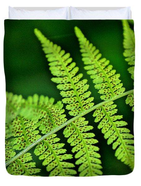 Fern Seed Duvet Cover by Sharon Elliott