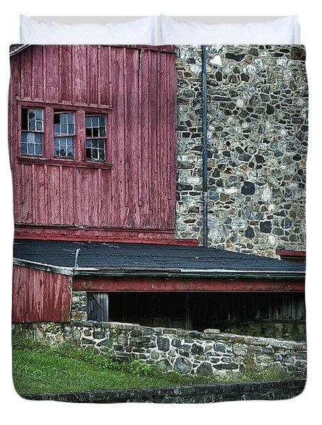 Field Stone Barn Duvet Cover by John Greim
