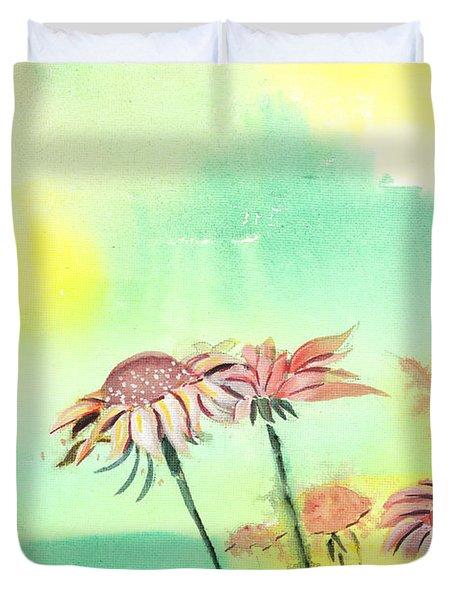 Flowers 2 Duvet Cover by Anil Nene
