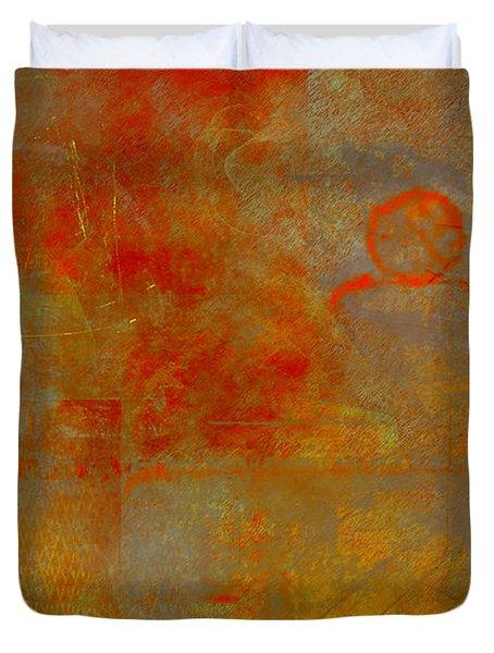 Fluorescent Rust Duvet Cover by Christopher Gaston