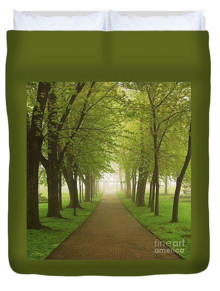 Foggy Park Duvet Cover