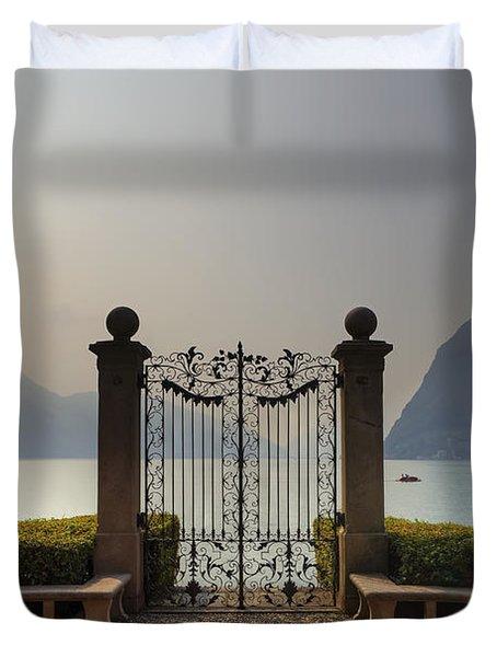 Gateway To The Lake Of Lugano Duvet Cover by Joana Kruse