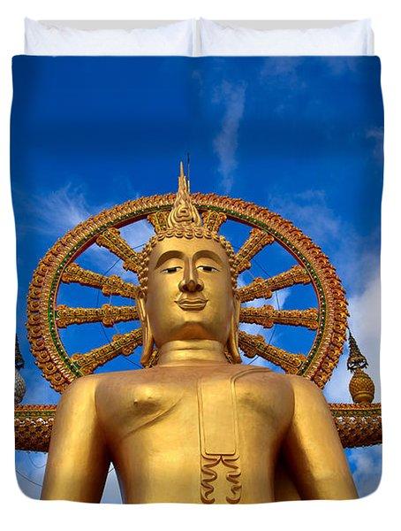 Golden Buddha Duvet Cover by Adrian Evans