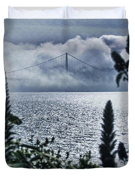 Duvet Cover featuring the photograph Golden Gate Bridge - 1 by Mark Madere