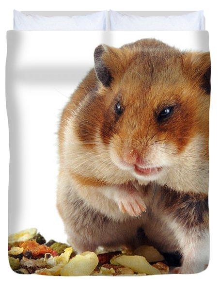 Golden Hamster Duvet Cover by Jane Burton