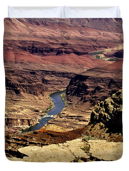 Grand Canyon Colorado River Duvet Cover by Bob and Nadine Johnston