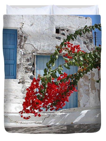Duvet Cover featuring the photograph Greece by Milena Boeva