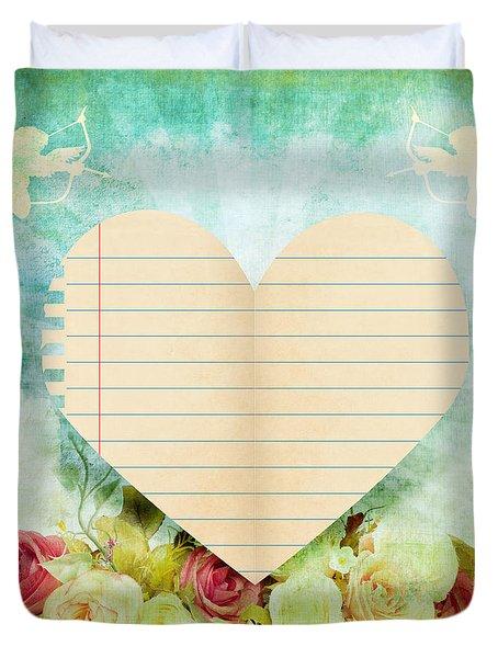 greeting card Valentine day Duvet Cover by Setsiri Silapasuwanchai