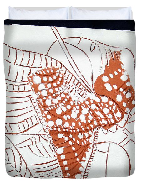 Guardian Angel - Tile Duvet Cover by Gloria Ssali