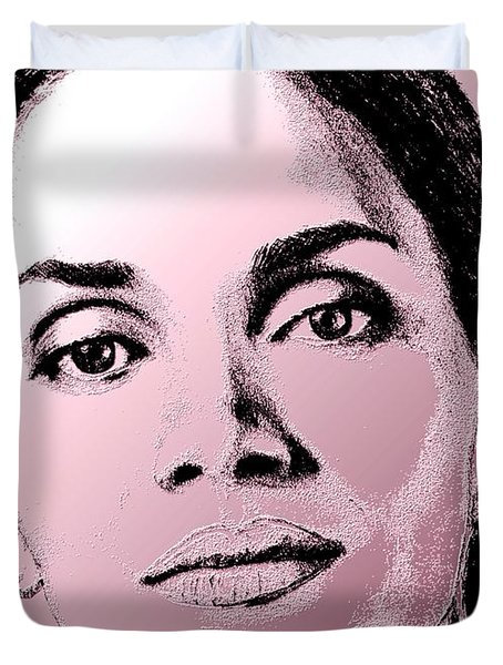 Halle Berry In 2008 Duvet Cover by J McCombie
