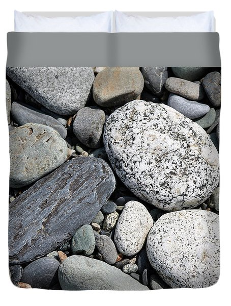 Healing Stones Duvet Cover by Cathie Douglas