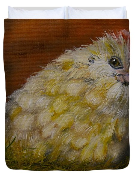 Duvet Cover featuring the painting Hector by Marlyn Boyd