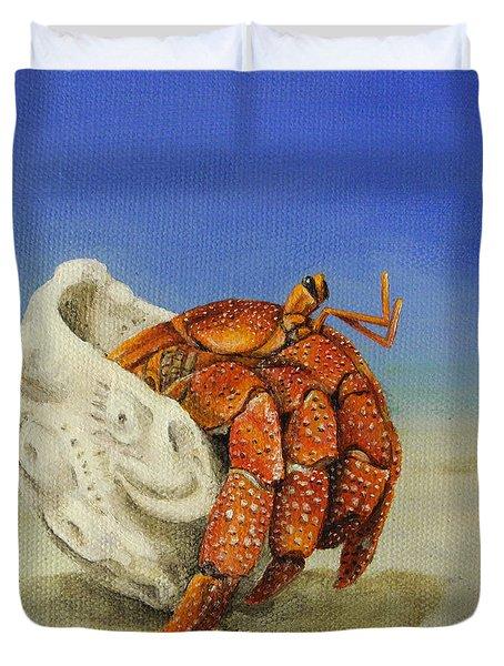 Hermit Crab Duvet Cover by Cindy D Chinn