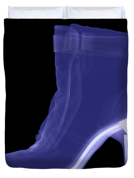 High Heel Boot X-ray Duvet Cover by Ted Kinsman