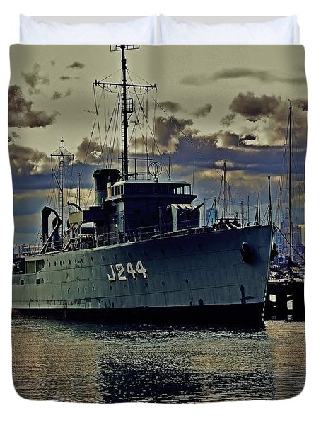 Duvet Cover featuring the photograph Hmas Castlemaine 3 by Blair Stuart