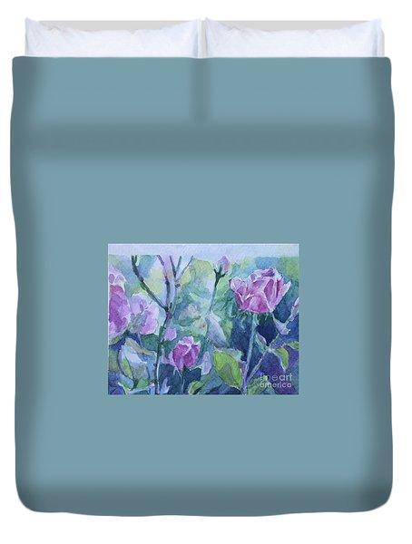 How Did The Rose Duvet Cover by Jan Bennicoff
