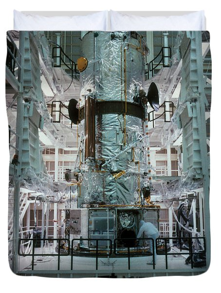 Hubble Space Telescope Duvet Cover by NASA/Science Source