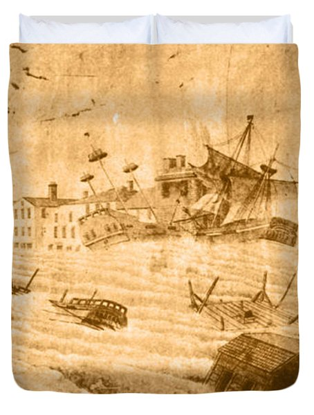 Hurricane, 1815 Duvet Cover by Science Source