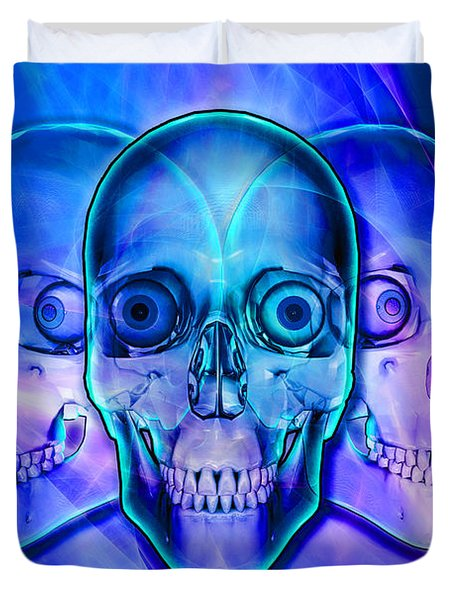 Illuminated Skulls Duvet Cover