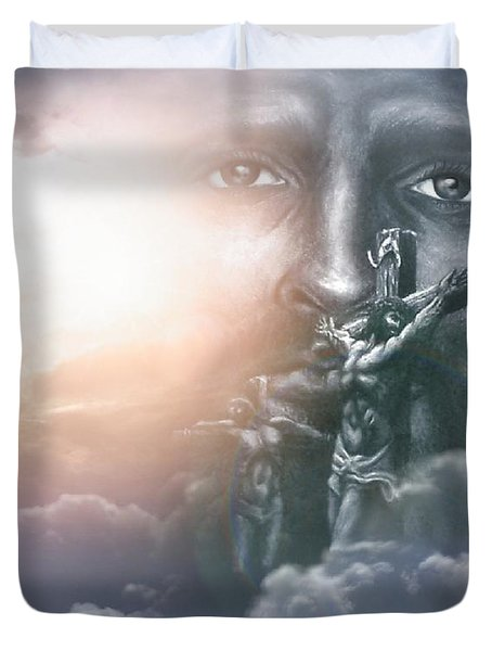 Isaiah's Vision Duvet Cover by Bill Stephens
