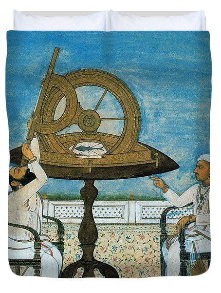 Islamic Astronomers Duvet Cover by Science Source