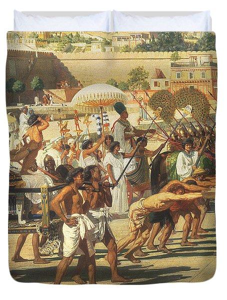 Israel In Egypt Duvet Cover by Sir Edward John Poynter