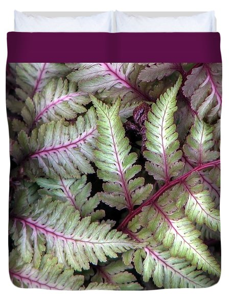 Japanese Painted Fern Duvet Cover by Chris Anderson