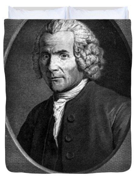 Jean-jacques Rousseau, Swiss Philosopher Duvet Cover by Photo Researchers