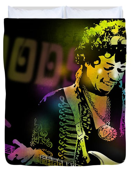 Jimi Hendrix Duvet Cover by Paul Sachtleben