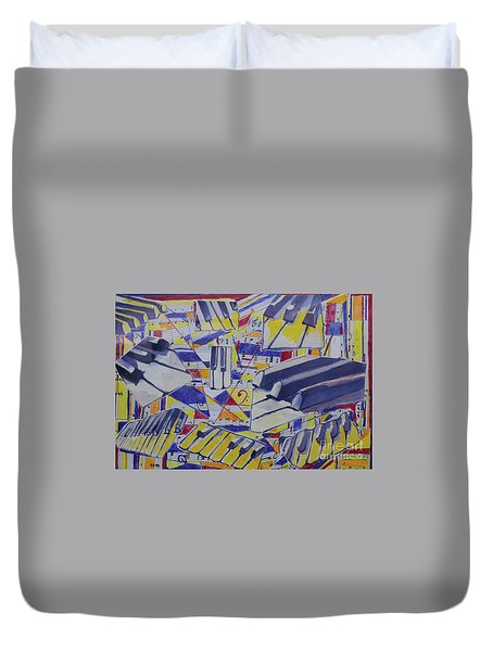 Jumping Jazz Duvet Cover by Jan Bennicoff