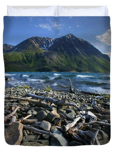 Kathleen Lake, Kluane National Park Duvet Cover by Robert Postma
