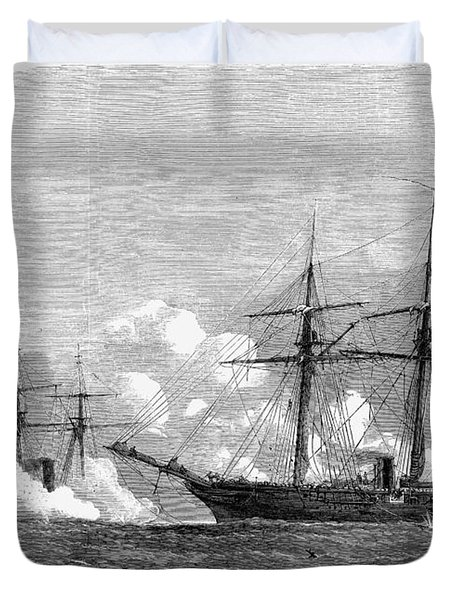 Kearsarge & Alabama, 1864 Duvet Cover
