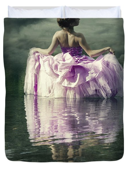 Lady In The Lake Duvet Cover by Joana Kruse
