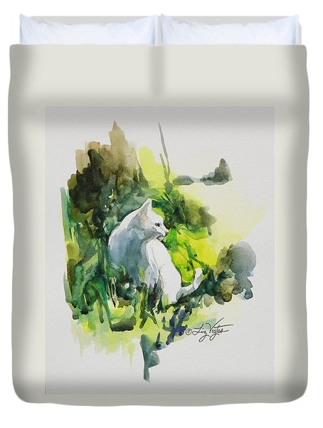 Lady In The Sun Duvet Cover
