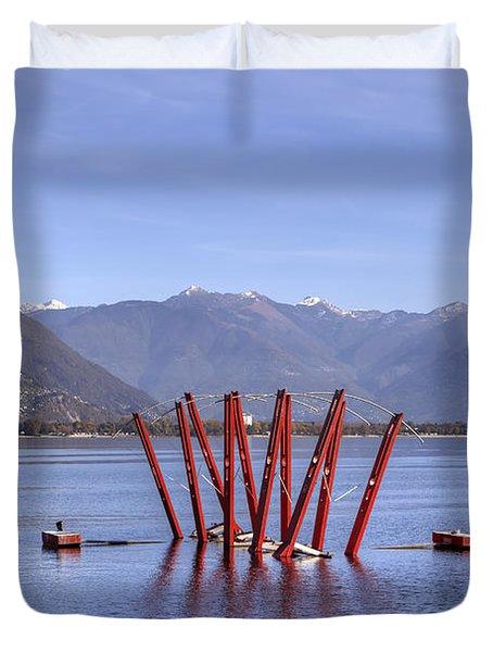Lake Maggiore Locarno Duvet Cover by Joana Kruse