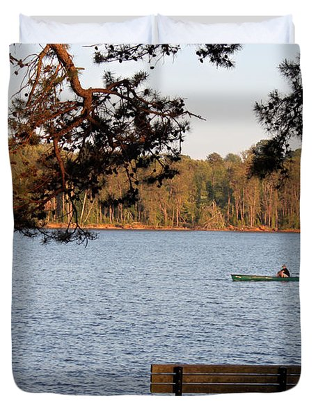 Duvet Cover featuring the photograph Lakeside by Todd Blanchard