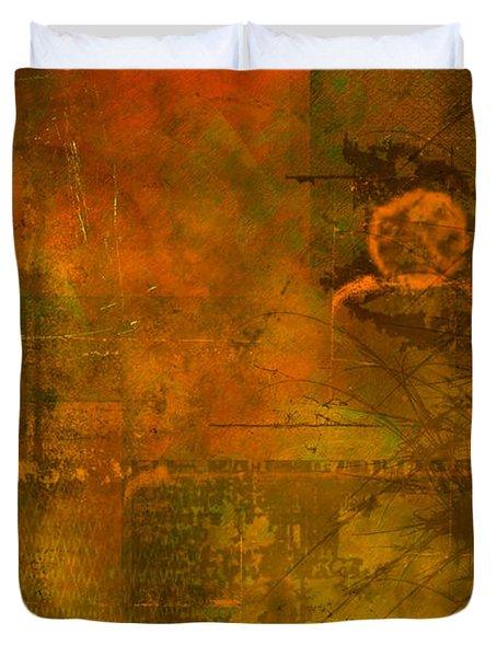 Landscape Of Mars Duvet Cover by Christopher Gaston