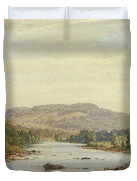 Landscape With River Duvet Cover by Sanford Robinson Gifford