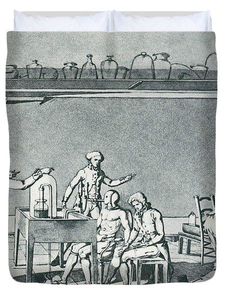 Lavoisier Experimenting Duvet Cover