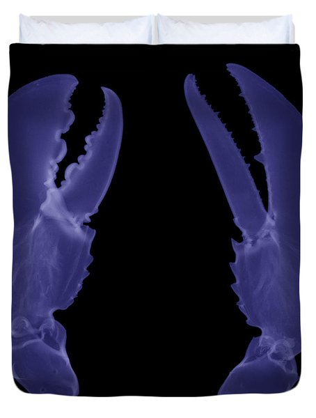 Lobster Claws X-ray Duvet Cover by Ted Kinsman