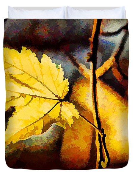 Lone Leaf Duvet Cover by Darren Fisher