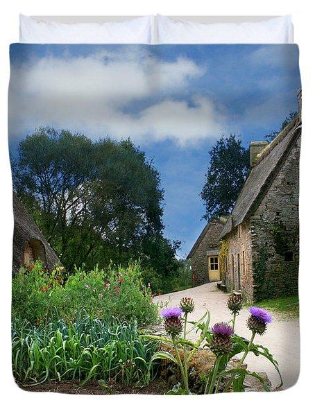 Medieval Village Duvet Cover