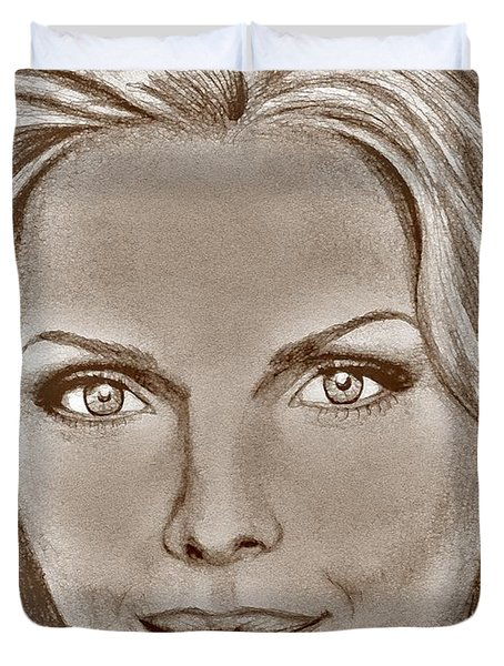 Michelle Pfeiffer In 2010 Duvet Cover by J McCombie