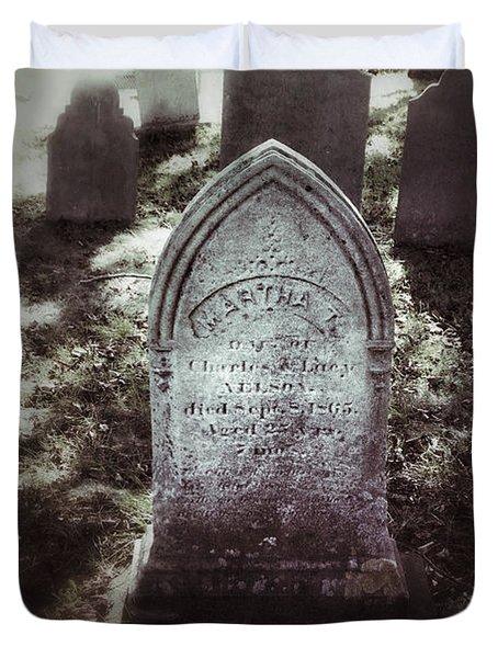 Misty Graveyard Duvet Cover by Jill Battaglia
