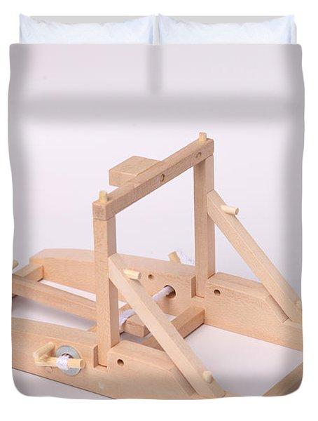 Model Catapult Duvet Cover by Ted Kinsman