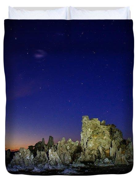 Mono Lake Big Dipper Sky Duvet Cover by La Rae  Roberts