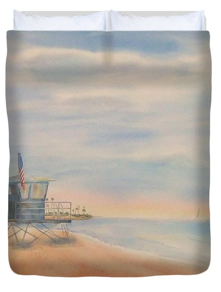 Morning By The Beach Duvet Cover